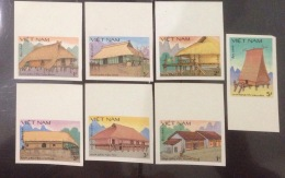 Vietnam Viet Nam MNH Imperf Stamps 1986 : Traditional Architecture Of Vietnamese Ethnic Minorities (Ms494) - Vietnam