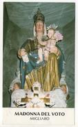 SANTINO HOLY CARD - MADONNA DEL VOTO - MIGLIARO - Santini