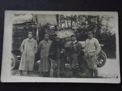 SOLDATS FRANCAIS Devant Leur CAMION (1) - Train - Guerre 1914-18 - Carte-photo - Non Voyagée - WW1 - A Voir ! - War 1914-18