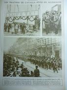 Militaria W1 , Les Traites De Cavala Fétés A Leur Arrivés A Goerlitz En Allemagne 1916 - Documents Historiques