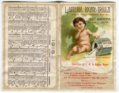 CALENDARIETTO LATTERIA DI LOCATE TRIULZI CASCINA PIETRASANTA MILANO LONDRA CASALPUTERLENGO MELEGNANO ANNO 1916 - Calendari