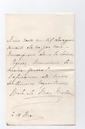 !!! AUTOGRAPHE DE LA MARECHALE DE MAC MAHON + ENVELOPPE AU TYPE SAGE - Autographes