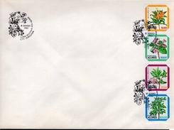 Azoren FDC Heftchenblatt 3 Blumen Used Gestempelt