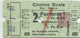 Schweiz - Cinema Scala Biel-Bienne - Kinokarte - Tickets - Entradas