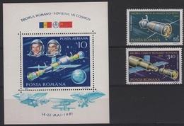 RO 407 - ROUMANIE PA 267/68 + BF 150 Neufs** Intercosmos - Aéreo