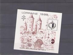 France 1988 BF CNEP N° 9 *  Salon Philatelique De Metz