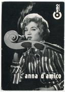 CARTOLINA ANNA D'AMICO CANTANTE EDIZIONE SOCIETà TREVISAN COMBO RECORD MILANO - Artisti