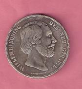 RIJKSDAALDER 2 1/2 GULDEN 1863 WILLEM III MOEILIJKSTE JAAR  NASLAG - 1849-1890 : Willem III