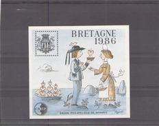 France 1986  BF CNEP N° 7 Neuf Sans Gomme Salon Philatelique De Rennes