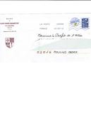 Env. Entier Postale Oblitérée De FRANCE - SAINT PRIEST BRAMEFANT - Blason