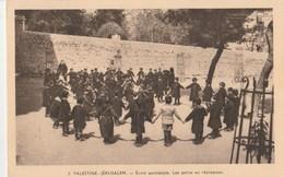 CPA   PALESTINE JERUSALEM ECOLE PAROISSIALE RECREATION