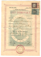 Tschechoslowakei Czechoslovakia Tchécoslovaquie LIST DOMOVSKY ZEME KRAL CESKE - STEMPEL MARKE 1888 12 Kr. + 5 Kr. - Tchécoslovaquie