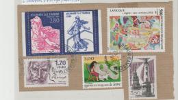 Frankreich 253 / Fragment, 6 Marken 1990iger Jahre  O - Frankreich