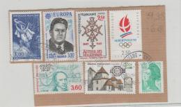 Frankreich 254 / Fragment, 7 Marken 1990iger Jahre  O - Frankreich