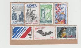 Frankreich 255 / Fragment, 7 Marken 1990iger Und 1990iger  Jahre  O - Oblitérés
