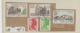 Frankreich 256 / Fragment Mit 5 Marken Von 1984 O - Oblitérés