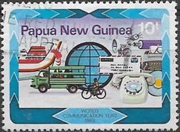 PAPUA NEW GUINEA 1983 World Communications Year - 10t Transport Communications FU - Papua New Guinea