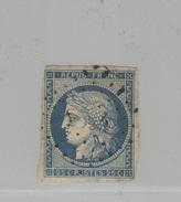 FRANCE -  Cérès N°Y&T 4 Oblit.  - 25 C Bleu -  TTB - 1849-1850 Ceres