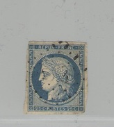 FRANCE -  Cérès N°Y&T 4 Oblit.  - 25 C Bleu -  TTB