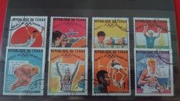 JO MEXICO 1968 - République Du Tchad 1969 - Lot De 8 Timbres - Oblitérés