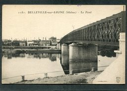 CPA - BELLEVILLE SUR SAONE - Le Pont - Belleville Sur Saone