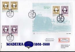 Madeira FDC Block 1 Erste Markenausgabe 62 -63 Used Gestempelt (groß) - Madeira