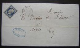 1856 Lettre à En Tête Des Houillères Et Fonderies De L'Aveyron, Forges De Decazeville - Postmark Collection (Covers)