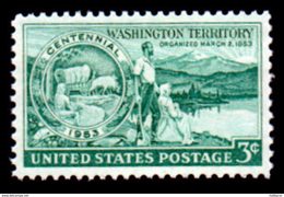 United States  1953 Scott # 1019, Washington Territory, 3c MNH This Is A Stock Photo - Unused Stamps