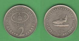 FAO Macedonia 2 Dinari 1995 - Macédoine