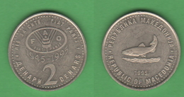 FAO Macedonia 2 Dinari 1995 - Macedonia