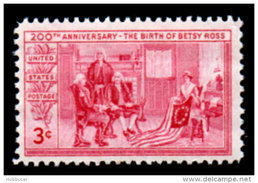 United States 1951, Scott # 1004, Betsy Ross, 3c, MNH This Is A Stock Photo - Unused Stamps