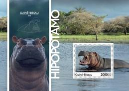 Guinea Bissau 2016, Animals, Hippopotamus, BF