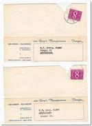 2 Briefkaarten 1961 Van Dongen Naar Amsterdam ( Van Gorp's Manufacturen, Dongen, Baby-artikelen, Wala-corsetten )
