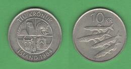 Iceland 10 KR 1984 Islanda - Islanda