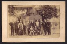 Photo Sur Carton 13.5cm X 8.5cm Photo 11cm X 7cm  Une Machine Du NORD - Trains