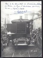 Photo 12cm X 17cm Une Chaudierede L'automotrice PLM En Service à Lyon Amberieu - Trains