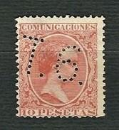 SPAGNA 1889 - Alfonso XII - Tipo Pelon - Telegrafos - 10 P.  - Edifil:ES 228T - 1889-1931 Regno: Alfonso XIII