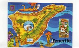 Postcard - Map - Tenerife Canary Islands - Card No.112 Very Good - Postcards