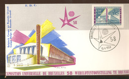 Expo 58 Bruxelles   Premier Jour   Congo Belge Et Ruanda - Obj. 'Souvenir De'
