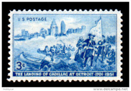 United States  1951, Scott # 1000, Cadillac Landining In Detroit , 3c MNH This Is A Stock Photo - Unused Stamps
