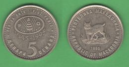 FAO Macedonia 5 Dinars 1995 - Macédoine