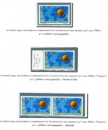 """Rare Stamps Of World Cup Soccer Switzerland 1954 - Football Variety """"nuvola Su Cuba"""" And """"Atlantide"""". - Coupe Du Monde"""