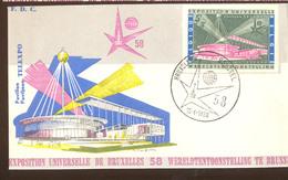 Expo 58 Bruxelles   Premier Jour   Telexpo - Obj. 'Souvenir De'