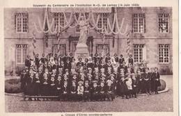 LARNAY. - Souvenir Du Centenaire De L'Institution (14 Juin 1933) - Groupe D'Elèves Sourdes-parlantes. Carte RARE - Ecoles