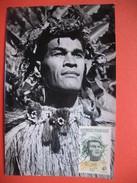 TAHITI YT N° 5 CARTE MAXIMUM 4f. CARD PREMIER JOUR PAPEETE 7 Novembre 1965 - Cartes-maximum