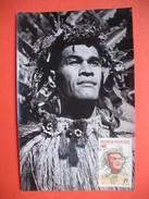 TAHITI YT N° 7 CARTE MAXIMUM 7f. CARD PREMIER JOUR PAPEETE 7 Novembre 1965 - Cartes-maximum
