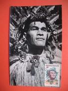 TAHITI YT N° 8 CARTE MAXIMUM 9f. CARD PREMIER JOUR PAPEETE 7 Novembre 1965 - Cartes-maximum