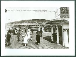 14 - Deauville Plage Fleurie, Photo Tirage Repro D'une Carte Postale - Reproductions