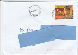 Z3] Enveloppe Cover Togo Aung San Suu Kyi Myanmar Birmanie Burma