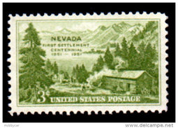 United States  1951, Scott # 999, Nevada Centennial , 3c MNH This Is A Stock Photo - Unused Stamps